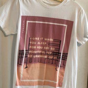 The 1975 pink shirt neon I like it when you sleep